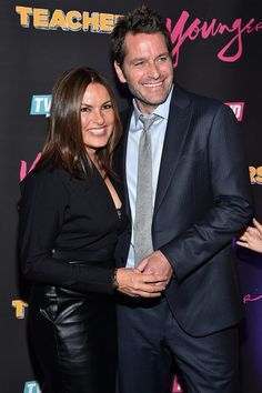 """In This Photo: Mariska Hargitay, Peter Hermann Actors Mariska Hargitay (L) and Peter Hermann attend the """"Younger"""" Season 2 and """"Teachers"""" Series Premiere at The NoMad Hotel on January 12, 2016 in New York City."""