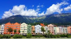 innsbruck-maria hilf strasse #austria #innsbruck #alps #beautifulview Innsbruck, Alps, Austria, Mountains, Mansions, House Styles, Nature, Travel, Mansion Houses