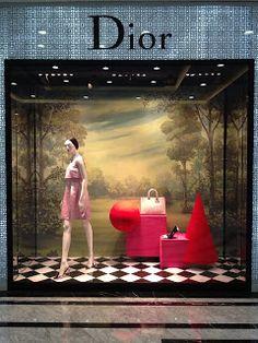 Dior Vietnman via Fashion Window Display, Window Display Retail, Retail Windows, Store Windows, Boutique Interior, Dior Store, Luxury Store, Luxury Blog, Bag Display
