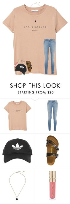 """""""follow your dreams"""" by elliegracee ❤ liked on Polyvore featuring MANGO, Givenchy, Topshop, Birkenstock, Kendra Scott, Smith & Cult and Michael Kors"""