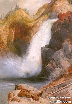 سحر الطبيعة وقمم تعانق السحاب فى لوحات Thomas Moran