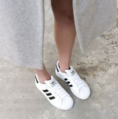 Via The Daily Covet | Grey and White | Adidas | Minimal Chic