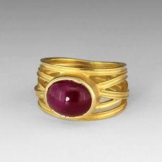 Oval Ruby Cabochon Ring,Barbara Heinrich