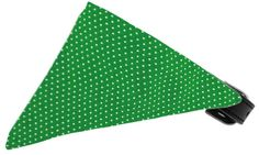 Emerald Green Swiss Dots Bandana Pet Collar Black Size 16