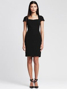 Banana Republic Sloan Sheath Dress in Red Glow, Black, and Navy... just a few of the great items, I have selected for Spring/Summer Must Haves!