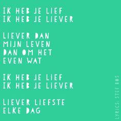 Ik heb je lief - Stef Bos #songtekst #lyrics