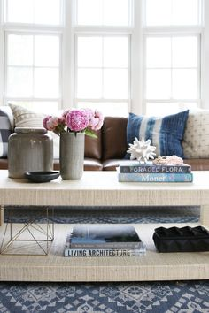 Styling two layer coffee table