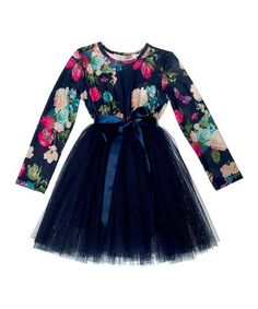 Another great find on #zulily! Navy Butterfly A-Line Dress - Infant, Toddler & Girls #zulilyfinds