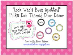 Erica Bohrer's First Grade: Bright Polka Dot Classroom Decor: Updates