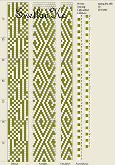 SKARBY RĘKODZIEŁA: Schematy sznurków szydełkowo-koralikowych.