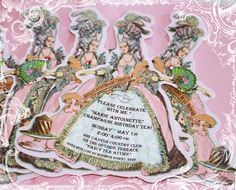 marie antoinette party theme: invitations  — Linda Kaye's Partymakers