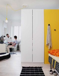 Superb A Tall Wardrobe as Room Divider for Two Teen Boys u Hus u Hem