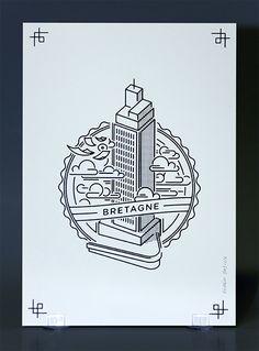 "rodéo basilic Actually, it's called ""Tour de Bretagne"" but it's not Britain so. Design Despace, Badge Design, Line Design, Icon Design, Travel Illustration, Line Illustration, Graphic Design Illustration, Rodeo, It Icons"