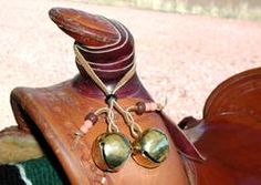 """Fasten riding bells to your saddle  letting a Hikers-deer hunters - bear-  hear you coming- can prevent a sudden surprise meeting!  Jingling is nothing new- site has different ""hanging ideas,"" also you can purchase.."