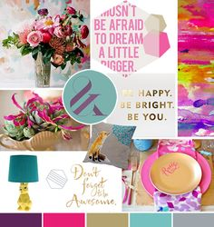 Love this mood board from Pocketful of Dreams