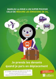 Campagne éco-gestes, thématique mobilités. Semaine 3 : les déplacements professionnels UTBM - service communication / DR