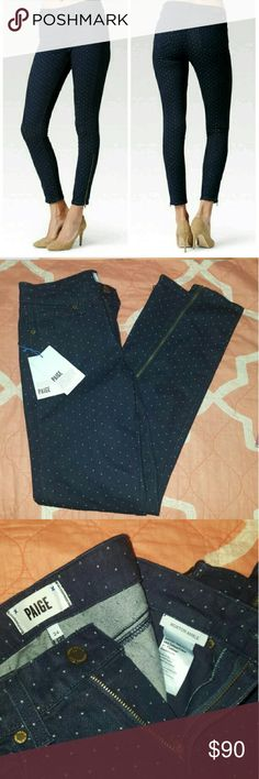 Paige Denim sz 24 Hoxton Ankle zip pin dot New with tags Paige Denim hoxton ankle zip oink dot size 24.  NO TRADES. Paige Jeans Pants Skinny