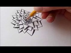 "Das Zentangle-Muster ""Aquafleur"" (aus ""Der große Zentangle Video-Workshop mit Anya Lothrop"") - YouTube"