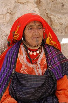 berber / amazigh tatoo on a grandmother