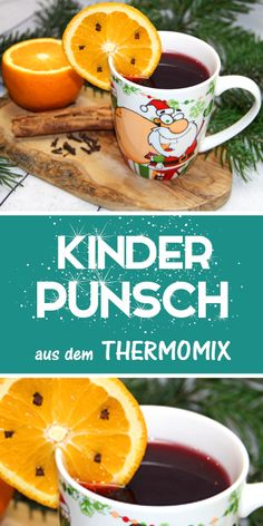 children Tea- Kinderpunsch ♥ Children& punch ♥ just make it yourself in the Thermomix - Healthy Eating Tips, Healthy Nutrition, Healthy Drinks, Kids Punch, Dessert Parfait, Vegetable Drinks, Winter Kids, Christmas Fashion, Fall Desserts