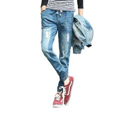 21.49$  Watch now - http://aliiu1.shopchina.info/1/go.php?t=32741183489 - 2017 New Distressed Denim Jeans Men Ripped Jeans For Men vaqueros hombre Mens Classic Jeans hombre pantalones vaqueros hombre  #buychinaproducts