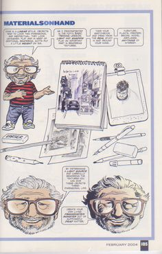 Scan from Wizard Magazine 148. Basic Training: Part 6 of 6 Joe Kubert shows how to do textures. p105