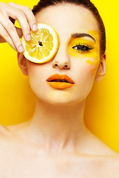 lemon by *lucastomaszewski on deviantART / LOVE LOVE LOVE the idea! Obviously the makeup is very simple and plain, but the idea is gorgeous! Must try!!