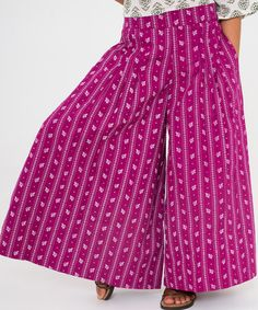 Love this Fuchsia Floral Palazzo Pants - Toddler & Girls by Yo Baby on #zulily! #zulilyfinds