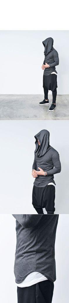 Tops :: Hoodies :: Avant-garde Volume Big Shirring Hood-Tee 607 - Mens Fashion Clothing For An Attractive Guy Look #MensFashionTshirts