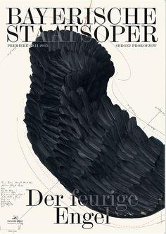 Muted, illustration, serif / Bureau Mirko Borsche for Bayerische Staatsoper