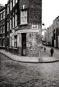 John Claridge ~ Corner Shop, Spitalfields, 1961