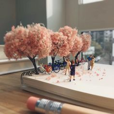 Derrick Lin Recreates His Office Life With Miniature Figures #inspiration #photography