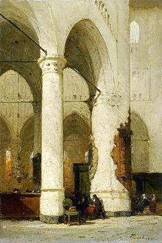 "Bosboom Johannes - Interior Hooglandse Kerk In Leiden In 1891 (from <a href=""http://www.oldpainters.org/picture.php?/47000/category/15854""></a>)"