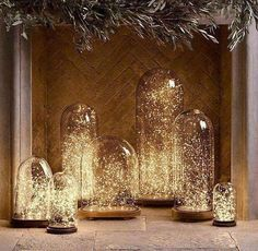 New Party Table Decorations String Lights Ideas Lighted Centerpieces, Party Table Decorations, Light Decorations, Wedding Decorations, Wedding Ideas, Trendy Wedding, Wedding Inspiration, Winter Decorations, Wedding Advice