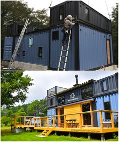 20ft Shipping Container, Shipping Container Home Designs, Container House Design, Shipping Containers, Container Buildings, Container Architecture, Sustainable Architecture, Contemporary Architecture, Usa Living