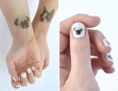 Temporary Dog Tattoos and Nail Art from Hello Harriet - Dog Milk