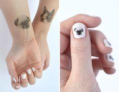 Temporary Dog Tattoos and Nail Art from Hello Harriet - Dog Milk