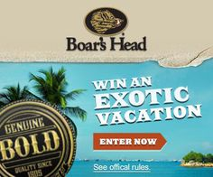 Boar's Head Bold Flavor Sweepstakes on http://www.icravefreebies.com