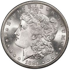 Blastwhite 1881-S MS68+ Morgan Dollar. Rare Coins, Half Dollar, Silver Bars, Larry, Auction