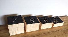 Jewelry Display Wood Display Risers by RobinsonMerchCompany