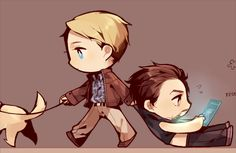 Steve Rogers is responsible.  He takes both the dog and Tony Stark out for the occasional walk.
