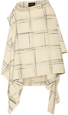 Vivienne Westwood Gaia checked wool-blend cape on shopstyle.com