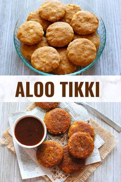 Indian street food like Aloo tikki is every chaat lover's delight and the perfect evening snack. Learn how to make these golden and perfectly crispy tikkis and serve them with a sweet and spicy tamarind chutney for extra zing! #alootikki #indianstreetfood #chaat Indian Potato Recipes, Easy Indian Recipes, Easy Recipes, High Protein Vegetarian Recipes, Vegan Recipes, Easy Snacks, Easy Meals, Savoury Finger Food, Paneer Dishes