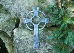 Celtic Cross, TO ORDER, catalog of St Elisabeth Convent. A forged Celtic Cross made by expert craftsmen of St. Elisabeth Convent is born of the flames in a furnace and the blows of a hammer. Applying a special coat to protect metal against rust is an indispensable final stage of the process. #catalogofgooddeed #cerltic #cross #blacksmith #church #orthodoxy #iron #christianity