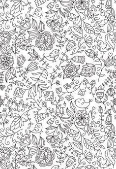A cute little adult coloring page for a springtime revival!
