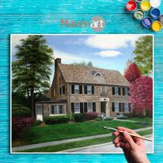Check out our realistic artwork commissioned by the professional artist and its Handmade. Make your old house memories more memorable by commissioning a portrait.