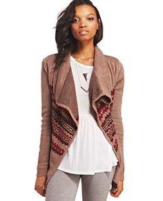 Tribal Stripe Blanket Cardi - looks so comfy
