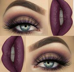 How much do you love makeup ? Gorgeous Makeup, Pretty Makeup, Love Makeup, Makeup Inspo, Makeup Inspiration, Beauty Makeup, Beauty Tips, Purple Makeup, Photo Makeup