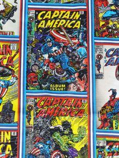 Captain America Fabric /  Marvel Comics by trinketsintheattic, $10.00
