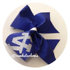 LA DODGERS Glitter Finish Cheer style Hair Bow